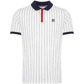 FILA BB1 Classic Striped Polo - White
