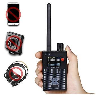 G318 Signal Detector Tracker Signal Anti Spy Detector Tracker Signal Gps Hidden Camera Detector For Car Radio Detection Wireless Cameras (Black)