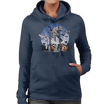 Star Wars Rogue One Battle Of Scarif Women's Hooded Sweatshirt