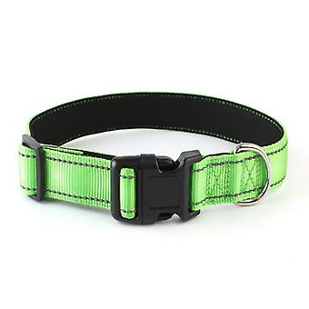 Reflective Dog Collar With Safety Locking Buckle, Adjustable Nylon Pet Collars