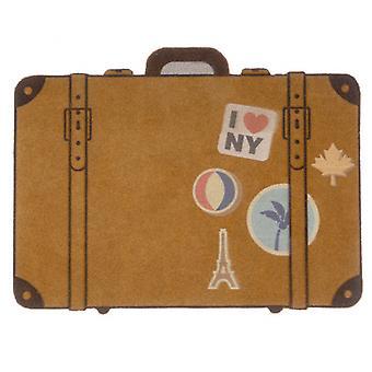 türmatte Gepäck 65 x 49,5 cm Polyester/PVC braun