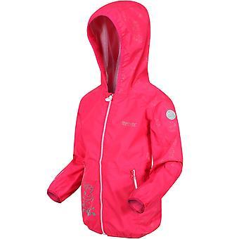 Regatta Girls Peppa Pig Refelective Waterproof Hooded Jacket - Bright Blush