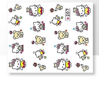 Vand klistermærker - Hello Kitty - 207 - For Nails