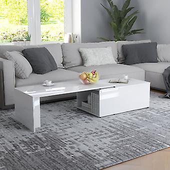 vidaXL table basse brillant 150 x 50 x 35 cm panneau de particules