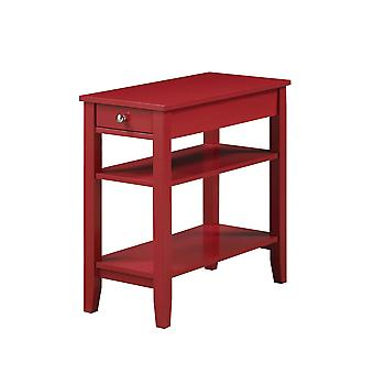 Amerikanisches Erbe Drei-Stufen-Endtisch mit Schublade - R6-351