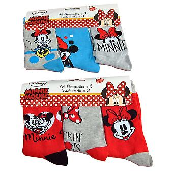 Minnie Mouse Sokker 3-pack