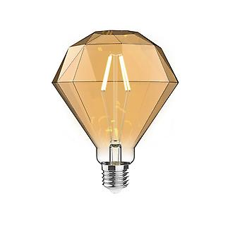 Classic Style Led Diamond E27 Dimmable 220-240v 4w 2100k, 200lm, Amber Finish