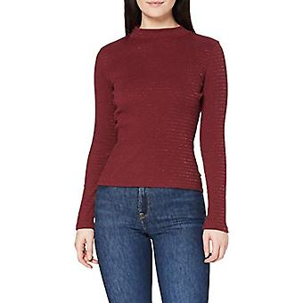 Lee High Neck Rib Tee T-Shirt, Red Ochre, XS Woman