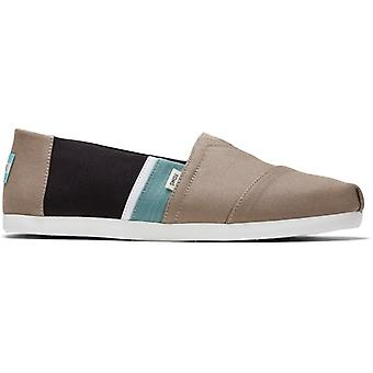 TOMS Alpargata Mens Coton Slip-on Chaussures Taupe