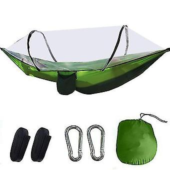 Light green portable automatic quick opening camping pole mosquito net hammock x945