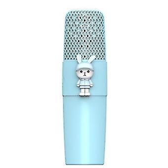 Tavşan mavisi k9 kablosuz bluetooth mikrofon ktv şarkı çocuklar çizgi film mikrofon az6235