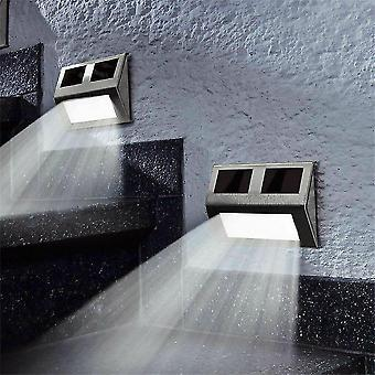 Multicolor waterproof 6pcs solar powered led fence pathway garden lights dt2707