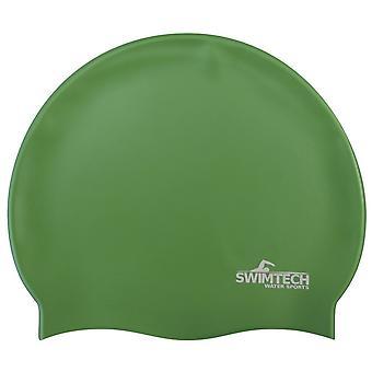 SwimTech Silicone Swim Cap Green
