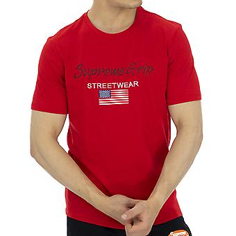 Supreme Grip Men T-Shirt Pantera Red
