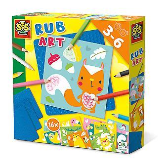 SES CREATIVE Børns Rub Art Set