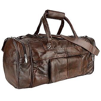 Unisex Large Leather Travel Holdall