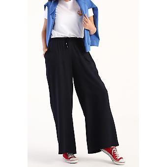 Pantaloni elastici in vita comoda in viscosa