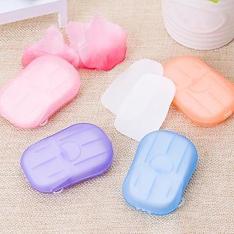 Papel de jabón desechable para lavar las hojas de rebanadas perfumadas de manos / baño