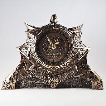Gaelic Bronze Clock 24cm