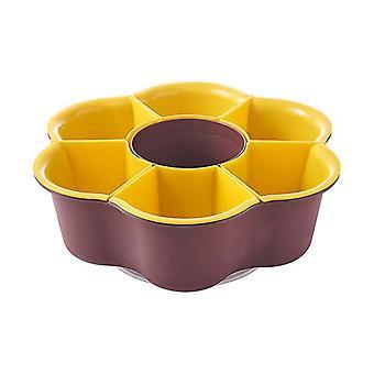 Plastic Kitchen Drawer Storage Organizer Divider Tool Ceramic Serving Plate(BeanPasteYellow)