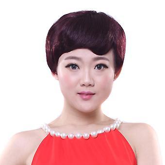 Oikeat ihmisen hiukset peruukit aalto pörröinen peruukki päähineet