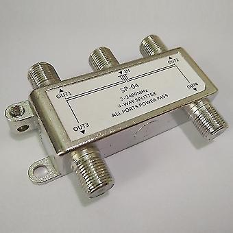 4-Wege-Satelliten / Antenne / Kabel-TV-Splitter-Verteiler 5-2400mhz F-Typ