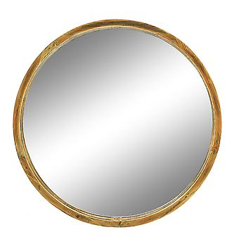 Windermere ronde houten muur spiegel rustieke omlijste gang bar 52cm natuurlijk