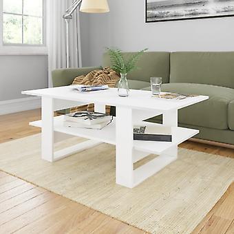 vidaXL table basse blanc 110x55x42 cm panneau de particules