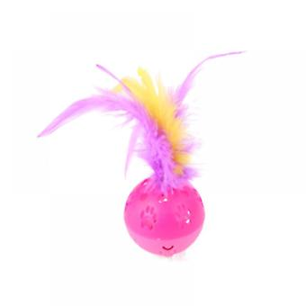 Cute Paw Print Bell Ball With Feather
