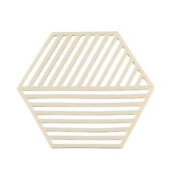 10Pcs Stylish Nordic Hexagonal TPR Food Mat Stain Resistant Dining Table Placemat Anti-Slip Tea