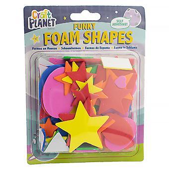 Självhäftande skum blandade former för barn hantverk - Peel & Stick