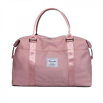 Sports Tote Gym Bag With Wet Pocket And Trolley Sleeve(Pink)