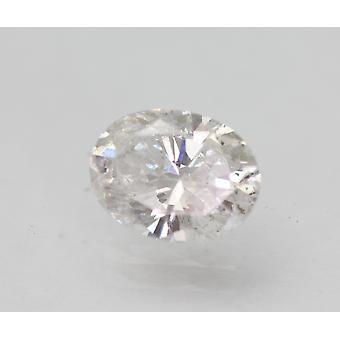 Certificado 0,83 Quilates E SI1 Oval Enhanced Natural Loose Diamond 7.07x5.39mm 2VG