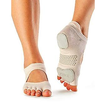 ToeSox Half Toe Prima Bellarina Yoga Pilates Dance Socks Fitted Heel Pad - Sweetpea