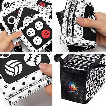 Schwarz-Weiß Soft Flash Cards, 26 Muster Babys Visuelles Puzzle