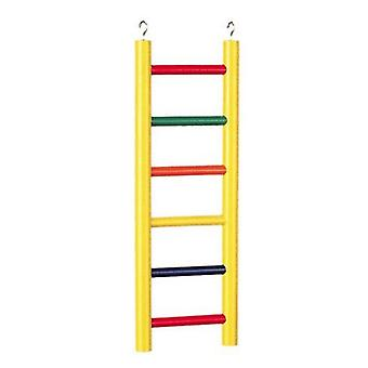 "Prevue Carpenter Creations Hardwood Bird Ladder Assorted Colors - 6 Ступень 12"" Длинная"