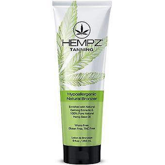 Hempz Hypoallergenic Natural Bronzer Tan Enhancer - Hemp Seed Oil - Dark Size 7