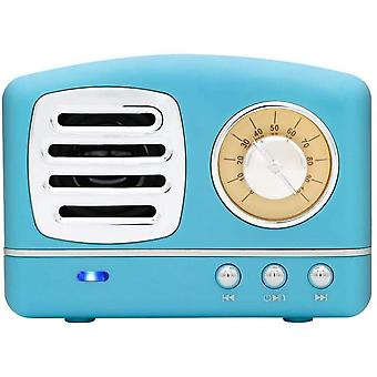 Portable Bluetooth  Speaker, Wireless Mini Vintage Speaker With Rich Bass, Stereo, Home,outdoors (blue)