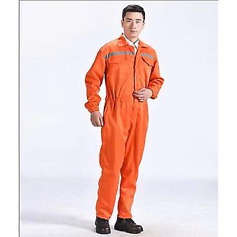 Reflective One-piece Protective Clothing For Men And Women Auto Repair Work (orange Xxxl)