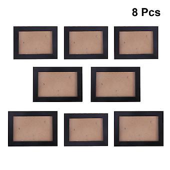 8pcs إطار الصورة مجموعة بسيطة غرفة نوم منزلية إبداعية شنقا إطار الصورة التقليد خشبية إطار الصورة مجموعة