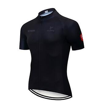 Strava Cykling Jersey Sommer Triathlon Åndbar Cykel Wear Mænds Mandlige 'team Cykling Kortærmet Shirts Quick-tør Tøj Top
