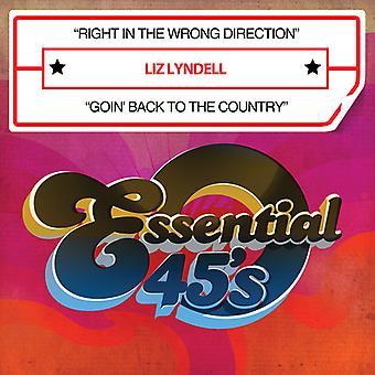 Liz Lyndell - recht in de verkeerde richting / Goin ' terug naar land USA import