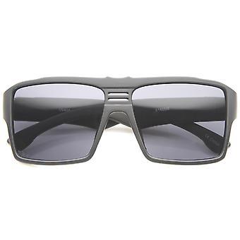 Męskie okulary przeciwsłoneczne Aviator nowoczesne dorywczo płaski, szeroki prostokąt świątyni 57mm