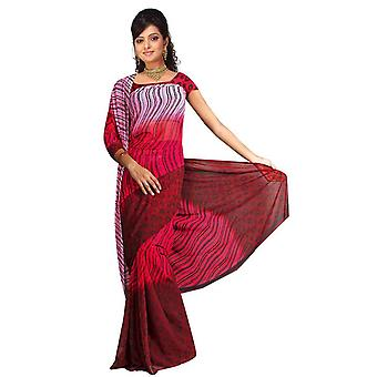 Barkha Georgette Printed Casual Saree Sari Bellydance fabric