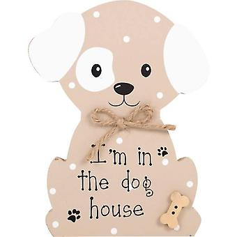 I'm in the dog house standing plaque Faithfull Pooch