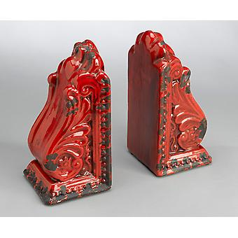 AA Importing 10825-rd Red Bookend Pair
