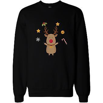 Rudolph Funny Christmas Black Sweatshirt