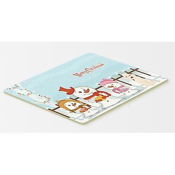 Hyvää joulua Carolers Raisio terrieri Sandy keittiöön tai kylpy matto 20 x 30