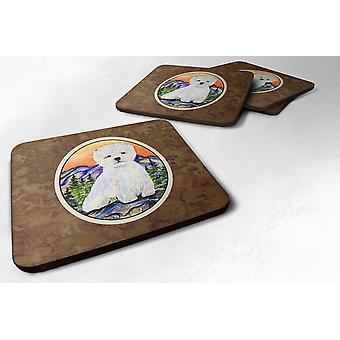 Carolines Treasures  SS8159FC Set of 4 Westie Foam Coasters