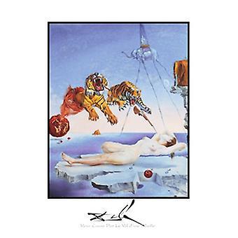 Reve årsag par la Vol dune Abeille plakat Print af Salvador Dali (22 x 28)